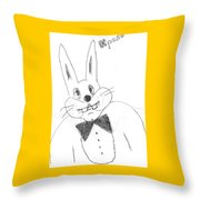 A Rabbit. Throw Pillow