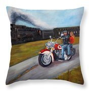 A Race In Time Throw Pillow