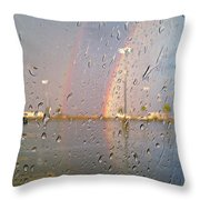 A Rainbow In My World #3 Throw Pillow