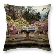 A Rainy Day In Magnolia Season Throw Pillow