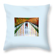 A Rainy Dayii Throw Pillow
