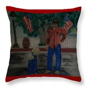 A Rainy July 4th Throw Pillow