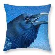 A Raven's Prayer Throw Pillow