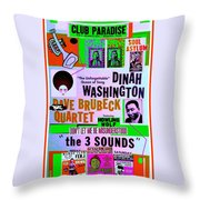 A Rebooted Music Poster Throw Pillow