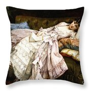 A Reclining Beauty Throw Pillow