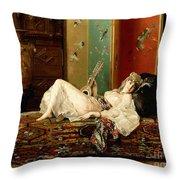 A Reclining Odalisque Throw Pillow