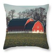 A Red Barn Throw Pillow