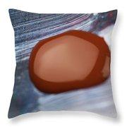 A Red Blot Throw Pillow