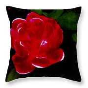 A Red Rose  Throw Pillow