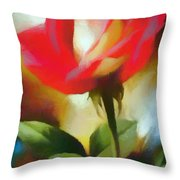 A Red Rose For Amelia Throw Pillow