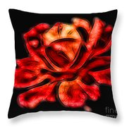 A Red Rose For You 2 Throw Pillow by Mariola Bitner