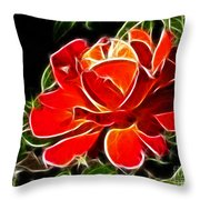 A Red Rose For You Throw Pillow