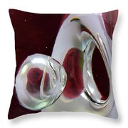A Reflected Red Rose Throw Pillow