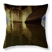 A Reflective Moment In Lyon Throw Pillow