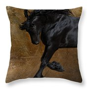 A Regal Bow Throw Pillow