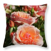 A Regiment Of Roses Throw Pillow