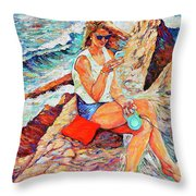 A Relaxing Moment Throw Pillow