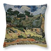 a replica of the landscape of Van Gogh Throw Pillow