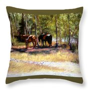 A Rest By The River Throw Pillow
