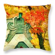 A Return To Fall - Digital Painting Throw Pillow