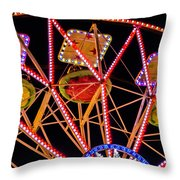 A Ride In The Carousel Throw Pillow