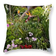 A Riot Of Flowers Throw Pillow