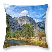 A River Flows Through It Throw Pillow