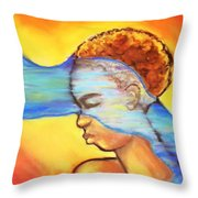 A River Runs Thru Throw Pillow