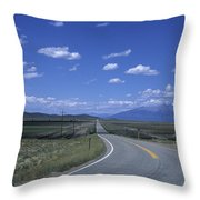 A Road Disappears Into The Distance Throw Pillow