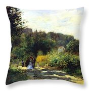 A Road In Louveciennes Throw Pillow