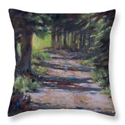 A Road Less Travelled Throw Pillow by Mia DeLode