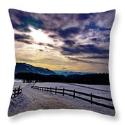 A Road To The Future Throw Pillow