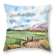 A Road To The Mountain Throw Pillow