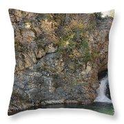 A Rocky Flow Throw Pillow