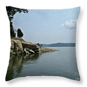 A Rocky Point - Monroe Lake Throw Pillow