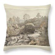 A Rocky Stream Throw Pillow