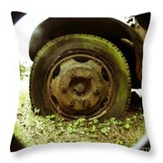 A Rolling Tire Gathers No Moss Throw Pillow