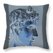 A Roman In Profile Throw Pillow