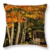 A Romantic Autumn Spot In Inlet Throw Pillow