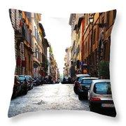 A Rome Street Throw Pillow