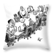 A Room Filled With People Who Are Wrong Throw Pillow