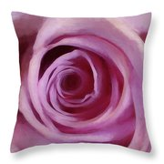 A Rose Abstract Throw Pillow