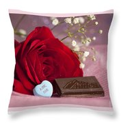 A Rose For Valentine's Day Throw Pillow