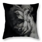 A Rose In Black And White Throw Pillow