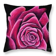 A Rose In Time Throw Pillow