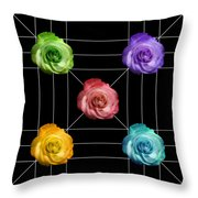 A Rose Is A Rose Is A Rose Throw Pillow