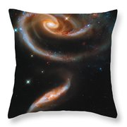 A Rose Made Of Galaxies Throw Pillow