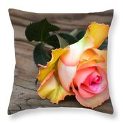 A Rose Throw Pillow