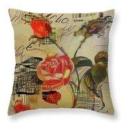 A Rose Story Throw Pillow