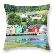 A Row Of Four Throw Pillow